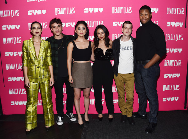 More Pics of Lana Condor Medium Wavy Cut (1 of 12) - Lana Condor Lookbook - StyleBistro [deadly class premiere screening - arrivals,event,premiere,series,liam james,janel parrish,lana condor,benjamin wadsworth,maria gabriela de faria,luke tennie,l-r,syfy]