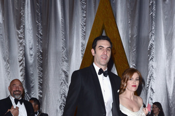 Sacha Baron Cohen Isla Fisher 88th Annual Academy Awards - Post Show Departures