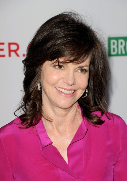 Sally Field Medium Wavy Cut with Bangs