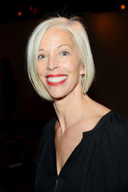 LInda Fargo showed off a stylish bob at the Sally LaPointe Spring 2016 show.