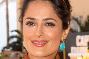Salma Hayek Dangling Turquiose Earrings