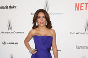 Salma Hayek Strapless Dress