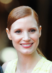 Jessica Chastain opted for a simple yet elegant side-parted ponytail when she attended the 'Salome and Wilde Salome' screening.