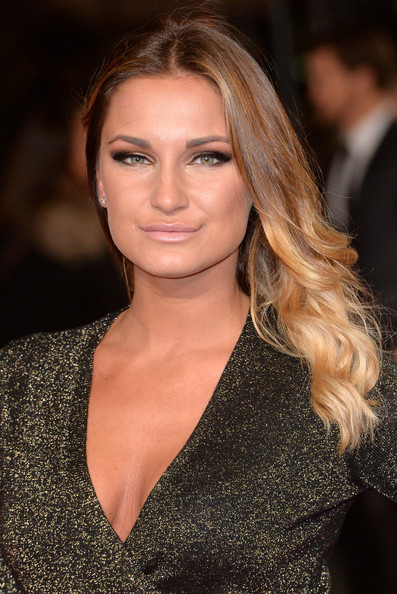 Sam Faiers Long Wavy Cut [the hunger games: mockingjay part 1,hair,face,hairstyle,blond,eyebrow,lip,brown hair,beauty,long hair,chin,sam faiers,england,london,odeon leicester square,premiere,world premiere]