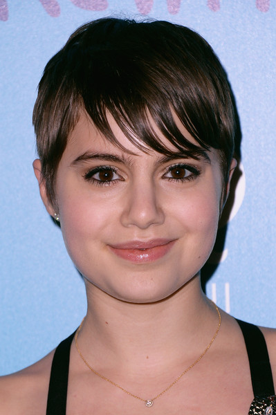 Sami Gayle Pixie [the cinema society and brooks brothers host a screening of ``the rewrite,face,hair,hairstyle,eyebrow,chin,forehead,bangs,lip,head,cheek,sami gayle,new york city,landmark sunshine cinema,rewrite screening - arrivals]