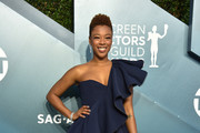 Samira Wiley One-Shoulder Top
