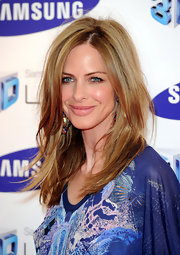 Trinny Woodall attended the Samsung 3D television launch wearing her hair in a mussed-up layered style.