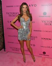 Alessandra shined at the 2012 Victoria's Secret Fashion Show in a pair of metallic pointy-toe pumps.