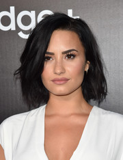 Demi Lovato worked a messy-sexy bob at the Samsung launch party.