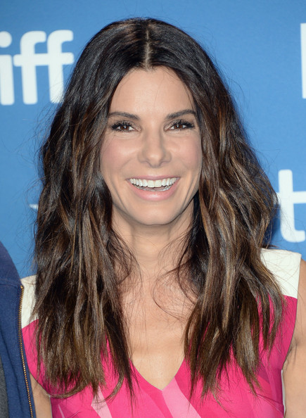 Sandra Bullock Pink Lipstick [hair,face,hairstyle,eyebrow,long hair,layered hair,brown hair,chin,hair coloring,beauty,toronto,canada,tiff bell lightbox,2013 toronto international film festival,gravity press conference,gravity press conference,sandra bullock]