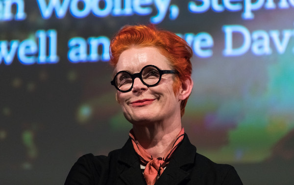 Sandy Powell Boy Cut [the crying game,glasses,eyewear,forehead,television presenter,smile,spokesperson,neil jordan,sandy powell,q a,united kingdom,london,bfi southbank,crying game 25th anniversary reunion and]