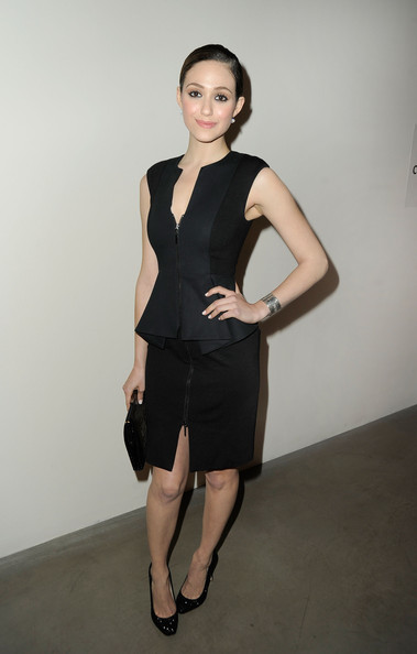 More Pics of Emmy Rossum Little Black Dress (1 of 13) - Emmy Rossum Lookbook - StyleBistro
