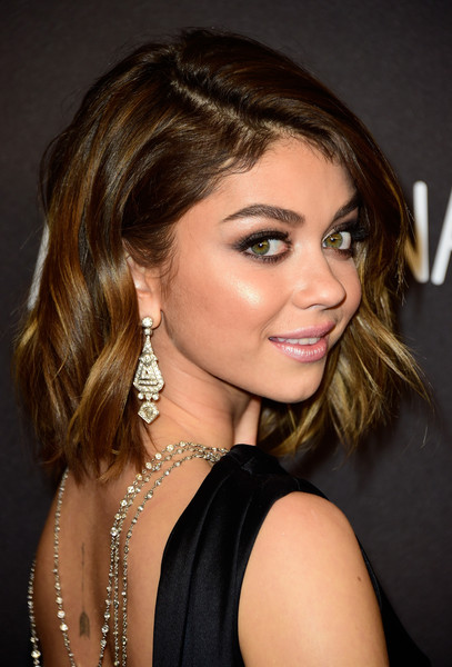 Sarah Hyland Diamond Chandelier Earrings