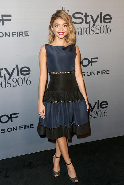 Sarah Hyland Peep Toe Pumps