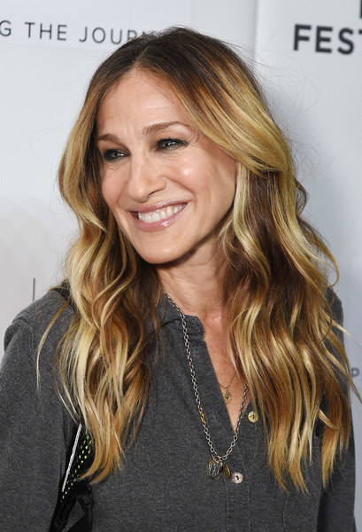 Sarah Jessica Parker Long Wavy Cut [the journey with sarah jessica parker,hair,blond,human hair color,beauty,hairstyle,eyebrow,long hair,layered hair,chin,fashion model,journey with sarah jessica parker,new york city,spring studios,tribeca film festival]