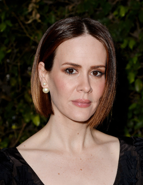 Sarah Paulson Bob [american horror story: coven,hair,face,eyebrow,hairstyle,lip,chin,beauty,brown hair,forehead,cheek,sarah paulson,conversation,los angeles,california,fyc screening and conversation with fox,twientieth century fox studios,screening]