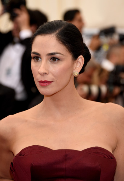 Sarah Silverman Classic Bun [charles james: beyond fashion costume institute gala,hair,face,lip,hairstyle,eyebrow,beauty,skin,shoulder,chin,fashion,red carpet arrivals,sarah silverman,part,new york city,metropolitan museum of art,met gala]