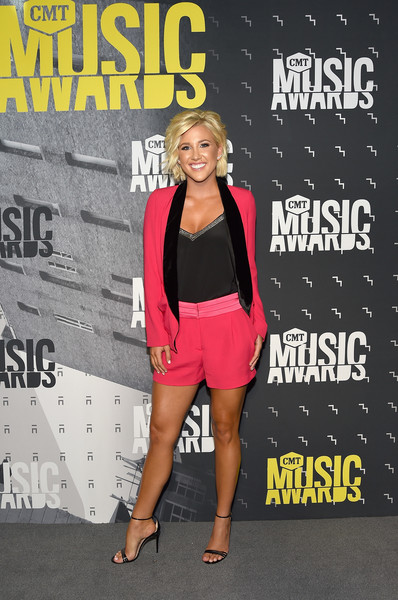 Savannah Chrisley Strappy Sandals [red carpet,clothing,fashion,footwear,shorts,leg,outerwear,muscle,premiere,thigh,event,savannah chrisley,cmt music awards,awards,nashville,tennessee,music city center,cmt music]