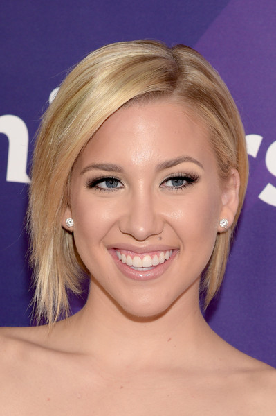 Savannah Chrisley Beige Lipstick [hair,face,blond,hairstyle,eyebrow,chin,forehead,head,lip,smile,savannah chrisley,tv personality,westlake village,four seasons hotel,california,nbcuniversal,nbcuniversal summer press]