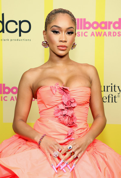 Saweetie Nail Art [image,hair,joint,skin,hairstyle,shoulder,arm,muscle,one-piece garment,fashion,human,billboard music awards,backstage,gown,fashion,brown hair,haute couture,hair,hairstyle,fashion show,fashion,haute couture,brown hair,fashion show,long hair / m,gown / m,model,gown,cocktail dress,photo shoot]