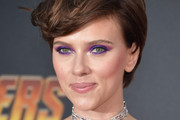 Scarlett Johansson Short Side Part