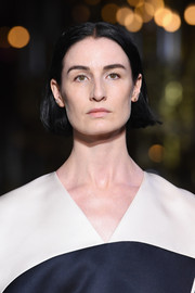Erin O'Connor walked the Schiaparelli Couture runway wearing a simple short center-parted 'do.