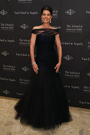 We loved the gorgeous off-the-shoulder design of Diana DiMenna's tulle gown at the American Ballet Winter Ball.