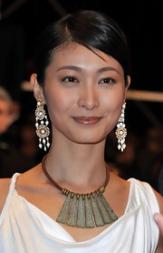 Actress Huan-Re Ke showed off her sleek classic bun while hitting the Cannes Film Festival.