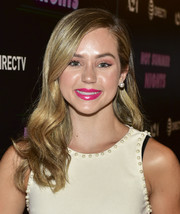 Brec Bassinger looked sweet with her long wavy hairstyle at the screening of 'Hot Summer Nights.'