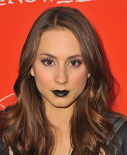 Troian Bellisario actually looked lovely despite the black lipstick during the 'Pretty Little Liars' Halloween episode screening.
