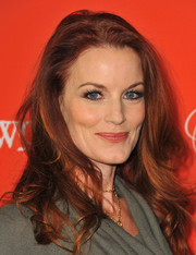 Laura Leighton left her hair loose with tousled curls when she attended the 'Pretty Little Liars' Halloween episode screening.