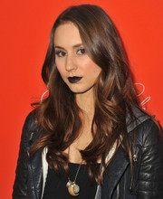 Troian Bellisario's feminine wavy 'do took some of the edge off her scary makeup during the 'Pretty Little Liars' Halloween episode screening.