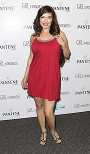 Laura Elena Harring tossed on this blousy red number for the screening of 'Girl in Progress.'