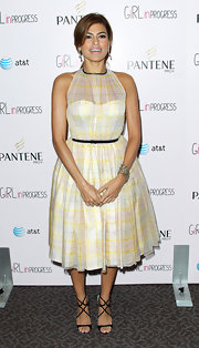 Eva Mendes wore strappy black sandals to a screening of 'Girl In Progress. '
