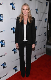Daryl Hannah's classic black blazer was made a little more fun with sequined lapels.
