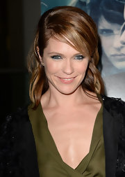 Katie Asleton chose this half up, half down 'do for her evening look at the Hollywood screening of 'Black Rock.'