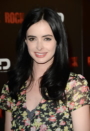 Krysten Ritter's nude lips gave her an au naturel look at the screening of 'Black Rock.'