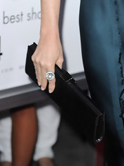 Demi Moore paired her Lanvin dress with a satin black clutch.