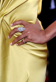 Letoya Luckett paired her satin dress with a decorative diamond ring.