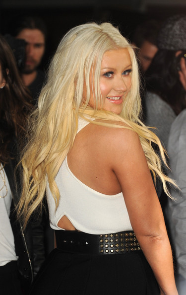 More Pics of Christina Aguilera Long Wavy Cut (1 of 21) - Christina Aguilera Lookbook - StyleBistro