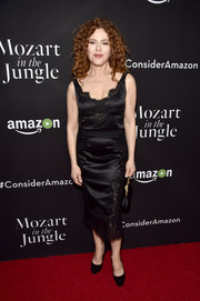 Bernadette Peters oozed elegance in a lingerie-inspired LBD during the 'Mozart in the Jungle' screening.