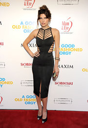 Lake Bell was smouldering hot onthe red carpet at the screening of 'A Good Old Fashioned Orgy.' She donned a black cutout dress with a high central split. Lake finished off the look with a tousled updo.
