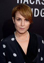 Noomi Rapace rocked emo bangs at the screening of 'Hacksaw Ridge.'