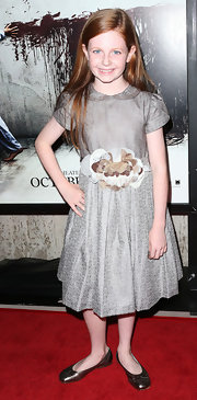 Clare Foley looked absolutely adorable in these bronze ballet flats.