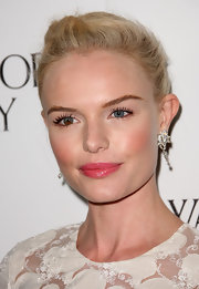 Kate Bosworth never fails in the beauty department. The stunning actress finished her elegant look with rosy pink lipgloss.