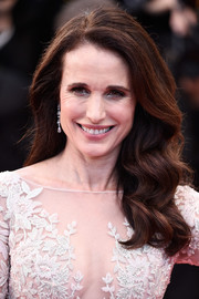 Andie MacDowell attended the 'Sea of Trees' premiere in Cannes sporting lovely, lush waves.