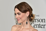 Jaime King was elegantly coiffed with this loose, low bun at the launch of the Parker Institute for Cancer Immunotherapy.