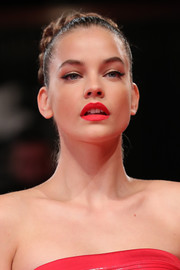 Barbara Palvin showed off a perfect red pout at the Venice Film Festival screening of 'Seberg.'