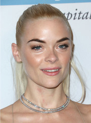 Jaime King dazzled with her ultra-glam layered diamond necklace.