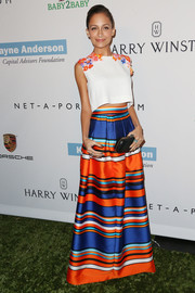 Nicole Richie looked oh-so-sweet at the Baby2Baby Gala in a white Alberta Ferretti crop-top with floral embellishments.
